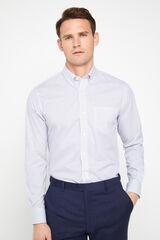 Cortefiel Camisa estampada fácil plancha algodón extra suave Azul