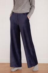 Cortefiel Pantalón de pana súper confortable Azul