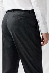 Cortefiel Pantalon classic fit Gris