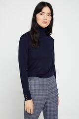 Cortefiel Pantalón corte chino Azul