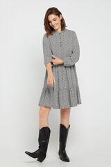 Cortefiel Vestido estampado curto Cinzento