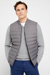 Cortefiel Chaleco acolchado combinable All weather Gris