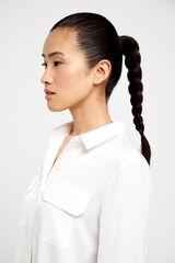 Cortefiel Camisa tejido reciclado Blanco