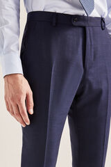 Cortefiel Pantalón microdibujo tailored fit Azul