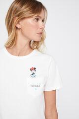 Cortefiel Camiseta días de la semana Disney Marfil