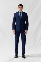 Cortefiel Americana falso liso azul slim fit Azul
