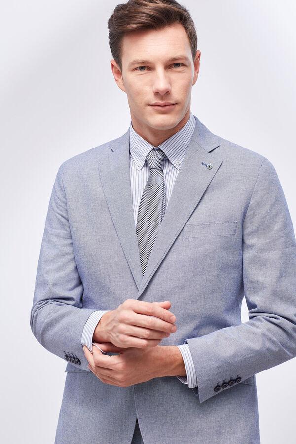 Cortefiel Americana traje tailored algodón Azul 4537acd53b3