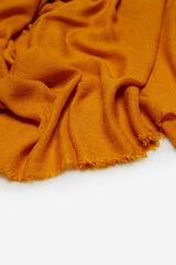 Cortefiel Lenço de seda básico monocolor quente Amarelo