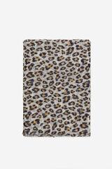 Cortefiel Lenço estampagem leopardo Azul