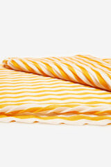 Cortefiel Fular plisado rayas Amarillo