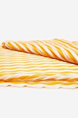 Cortefiel Lenço de seda plissado riscas Amarelo