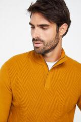 Cortefiel Jersey cuello semicisne Amarillo