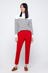 Cortefiel Pantalón con goma elástica Rojo