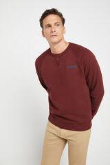 Cortefiel Camisola Dockers® de pescoço redondo de algodão Vermelho