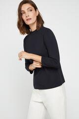 Cortefiel Camiseta perkins modal Negro