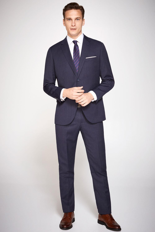 Cortefiel Pantalón traje slim fit Azul a28a0746367