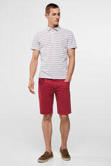 Cortefiel Bermuda color Rojo