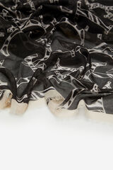 Cortefiel Fular fino logo Negro