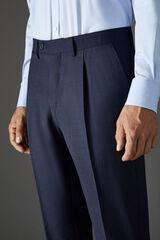 Cortefiel Pantalón espiga classic fit Azul
