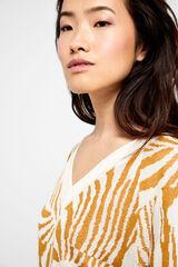 Cortefiel Jersey jacquard bicolor Amarillo