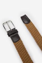 Cortefiel Cinturón liso trenzado textil Marrón