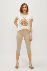 Cortefiel Calças jeans redutoras Beige
