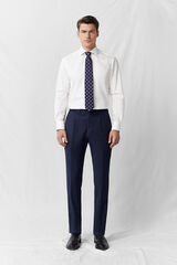 Cortefiel Pantalon classic fit Azul