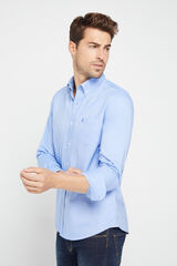 Cortefiel Camisa Oxford lisa algodão orgânico Azul