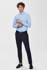 Cortefiel Camisa lisa tejido sostenible Azul