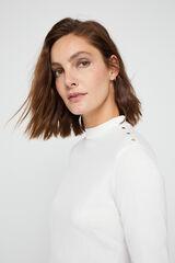 Cortefiel Camiseta perkins algodón orgánico Blanco