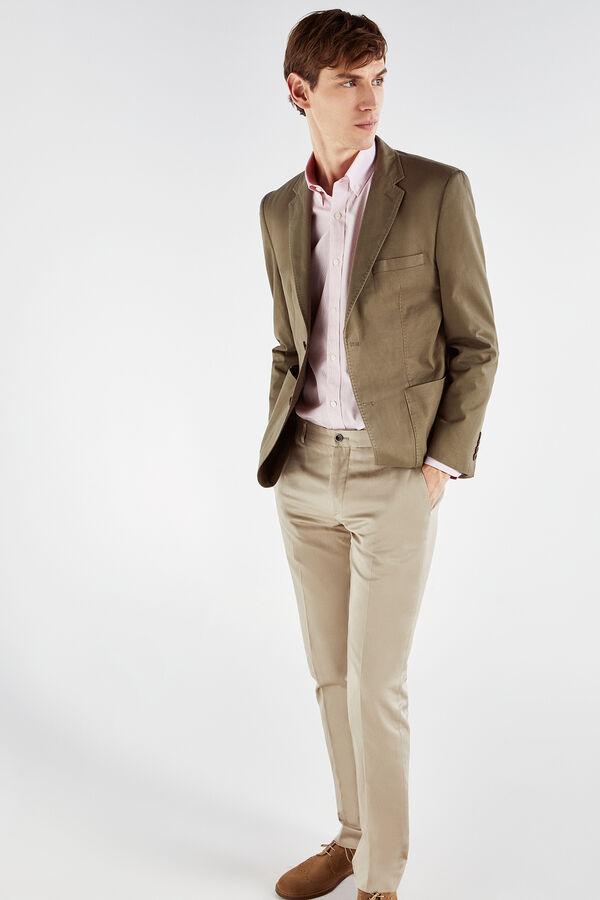 7f450571c840e Cortefiel Americana de algodón en tailored fit Verde