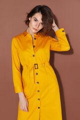 Cortefiel Vestido sarja cinto Amarelo