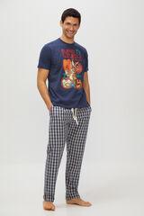 Cortefiel Pijama de punto y tela Looney Tunes Azul