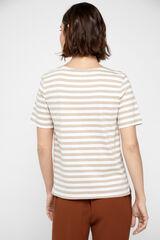 Cortefiel Camiseta orgánica estampada Amarillo