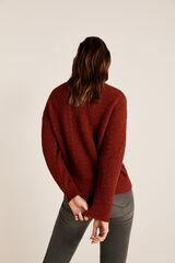 Cortefiel Jersey calados Rojo