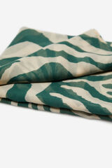 Cortefiel Fular estampado de tigre Verde
