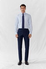 Cortefiel Calças falsas lisas azul slim fit Azul