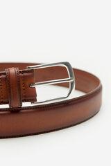Cortefiel Cinturón liso piel Marrón
