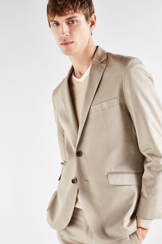 Cortefiel Americana algodón lino slim fit Beige. Comprar 776d7bf2262