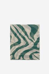 Cortefiel Lenço estampagem de tigre Verde