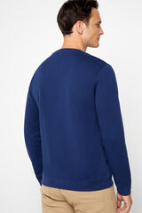 Cortefiel Sudadera cuello caja Azul