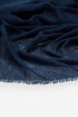 Cortefiel Fular monocolor zig-zag Azul