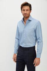 Cortefiel Camisa lisa azul Azul