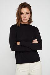 Cortefiel Camiseta perkins algodón orgánico Negro