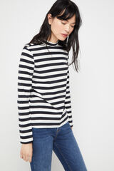 Cortefiel Camiseta perkins algodón orgánico Marfil
