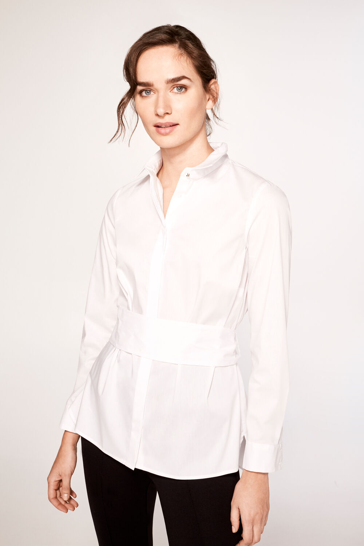 edb22fc741 Cortefiel Camisa popelín cinturón Blanco