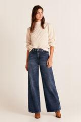 Cortefiel Jeans wide leg cintura alta Azul
