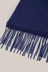 Cortefiel Cachecol tecido liso  Azul
