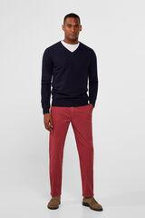 Cortefiel Pantalón chino regular Rojo