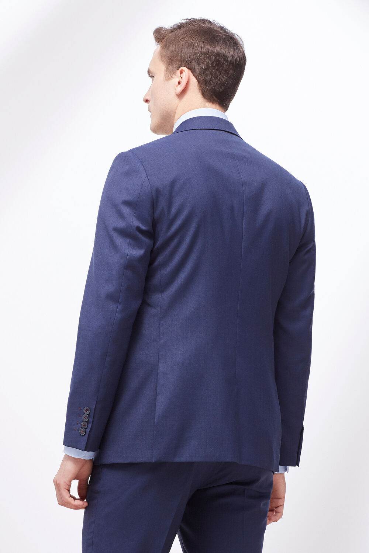 Cortefiel Americana traje slim canutillo Azul 374d0ba01e4